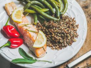saumon quinoa