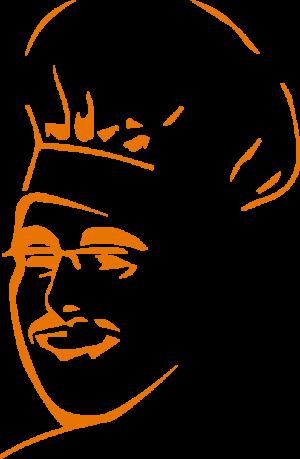 tête logo un chef au bureau